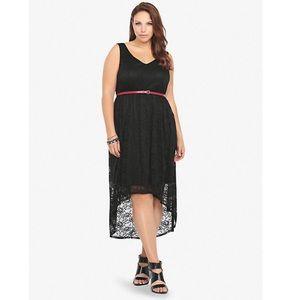 Torrid Black Lace High Low Dress